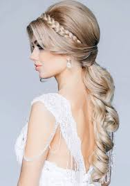 wedding hairstyles ideas simple curly all down long hair casual