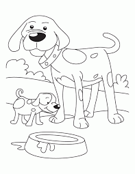 color pages dogs kids coloring
