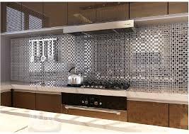 mirrored kitchen backsplash silver kitchen backsplash tile design ideas with regard to designs