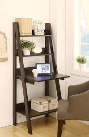 Leaning Ladder Desk by Ladder Style Writing Desk With Shelves Best Home Furniture