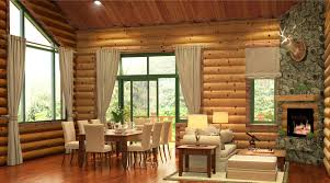 semi modern log cabin freelancers 3d