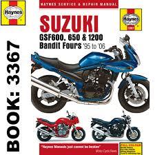 suzuki gsf600 gsf650 gsf1200 bandit fours 1995 2006 haynes