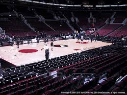 moda center section 114 seat views seatgeek