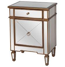 nightstand exquisite modern mirror slim nightstand design for