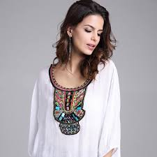 Plus Size Womens Clothing Stores Mexican Clothes 2016 Women Top Shirt Short Sleeve Embroidered