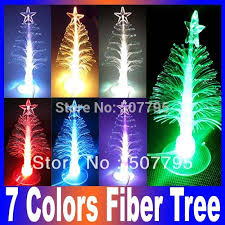 Christmas Tree With Optical Fiber Lights - new 7 colors change usb optic fiber mini pvc led christmas tree