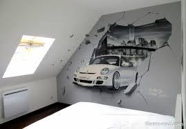 peinture chambre ado supérieur idee peinture chambre ado 10 porsche new york mur