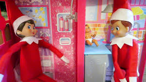 barbie house black friday elves playing in barbie house having elf babies elf on the shelf