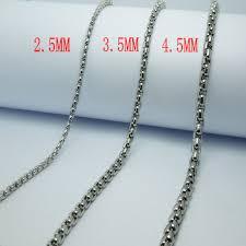 titanium chain link necklace images High quality men 39 s fashion punk rock styles titanium steel jpg
