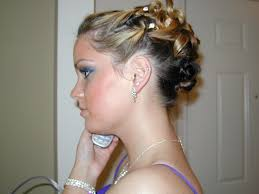 prom short hair hair style and color for woman
