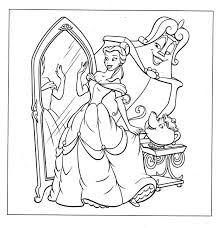 belle coloring pages getcoloringpages