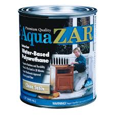 aqua zar 1qt water based polyurethane finish 32512 water clean