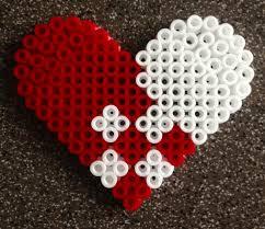 christmas heart hama beads perles by alice pinterest hama