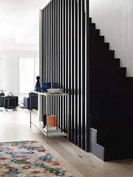 black staircase exploring pattern designs that make staircase screens stand out