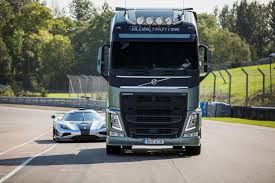 volvo truck commercial watch the koenigsegg one 1 race a volvo truck