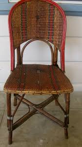 Woven Bistro Chairs Antique French Rattan Bistro Chairs