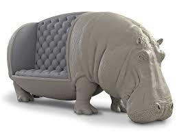 Hippo Ottoman Lifesize Hippopotamus Sofa Statue The Green