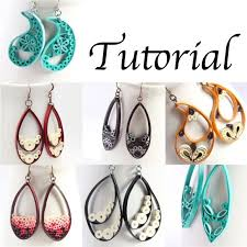 quilling designs tutorial pdf tutorial for teardrop marquis and paisley quilled earrings paper