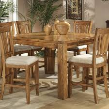 Fusion Counter Height Dining Room Set Light Oak Homelegance - Height of dining room table light