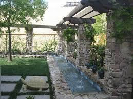 backyard waterfall wall home outdoor decoration