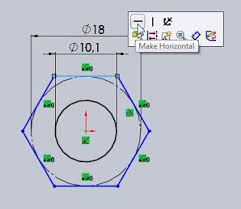 3d cad model tutorial how to draw a nut in a fully define sketch