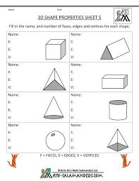 3 Dimensional Shapes Worksheets 9 Best Images Of 2d Shapes Worksheets For 3rd Grade 3d Shapes