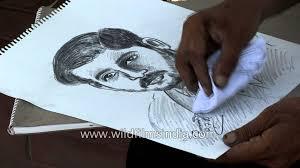 pencil sketch artist at sukhna lake chandigarh youtube