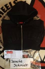 supreme arc logo thermal zip up