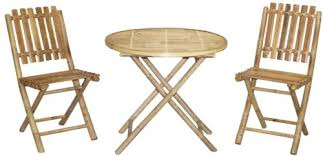 Bamboo Patio Set by Bistro Table Patio
