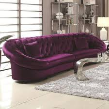 Purple Sectional Sofa Coaster Mid Century Modern Sectional Sofa Chair Sofa Purple 3pcs