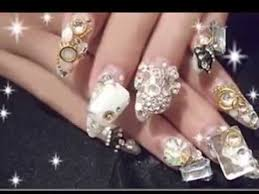 imagenes de uñas acrilicas con pedreria uñas acrilicas con piedras youtube