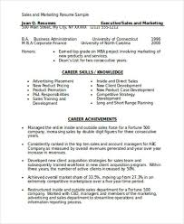 Executive Resume Format Template Marketing Resume Format Template 7 Free Word Pdf Format