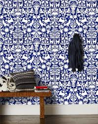 Non Permanent Wallpaper by Otomi Navy Wallpaper Modern Wallpaper And Modern