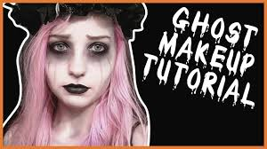 easy ghost halloween makeup tutorial vlogoween day 4 youtube