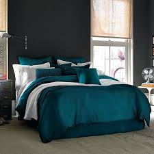 Peacock Feather Comforter Set 7 Piece Peacock Feather Duvet Cover Set In Navy Blue Peacock Quilt