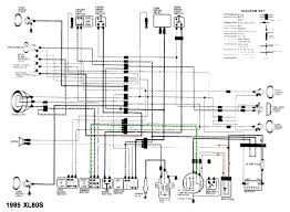 motor wiring diagram honda xl80s 1985 circuit schematic