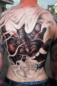 japanese mask and designs on chest photo 2 photo