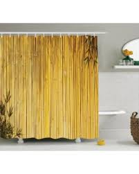 Wooden Bathroom Accessories Set by Summer Special Bamboo Decor Shower Curtain Set Tall Bamboo Stems