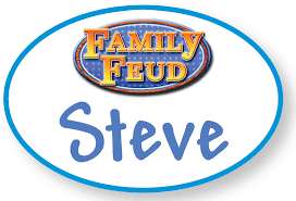 Family Feud Name Tag Template 1 Steve Harvey Family Feud Costume Prop Name Badge