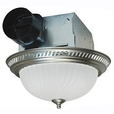 bathroom light fixture with fan shop air king 4 sone 70 cfm nickel bathroom fan at lowes com
