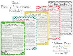 family proclamation printables the family a proclamation to the world lds ideas