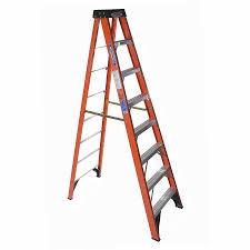 ladder shop werner 8 ft fiberglass type 1a 300 lbs step ladder at