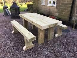 rustic garden table ebay