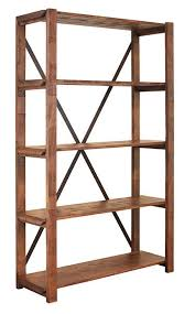 rustic bookcase w bookshelves rustic bookshelves open bookcase