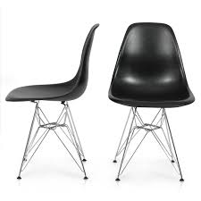 2x style dsw modern eiffel side chair molded abs plastic chairs