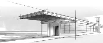 inspirations modern architecture sketch and modern home