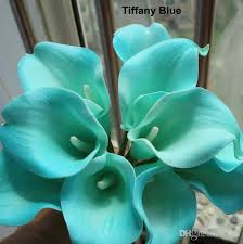 calla colors 2018 real touch 15 artificial calla flower bouquet turquoise