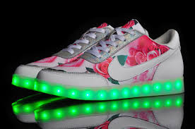 led lights shoes nike light up nike low white multicolored led lighting shoes for women 2 jpg
