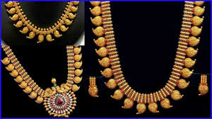 necklace patterns images Traditional south indian long gold necklace patterns jpg