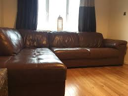 Corner Sofa Wood Leekes Violino Brown Leather Corner Sofa And Armchair In Nelson